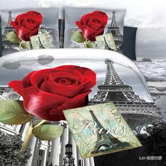 活性平纹3D花型面料 宽幅 235cm 浪漫巴黎