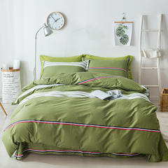 2018新款小清新13376斜纹简约床单式四件套 1.8m(6英尺)床 畅想未来-绿