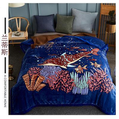 素堇 毛毯-双层云毯 兰蒂斯