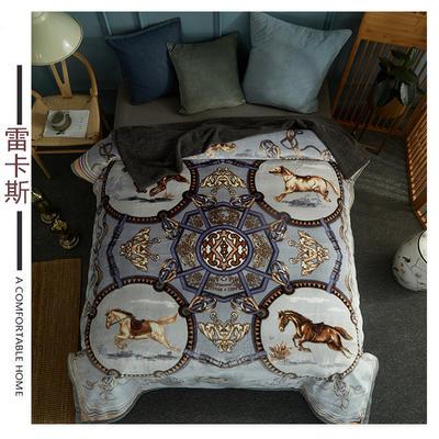 素堇 毛毯-双层云毯 雷卡斯