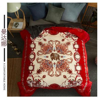 素堇 毛毯-双层云毯 曼达娜