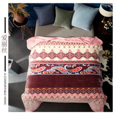 (总)素堇 毛毯-双层云毯 200cmx230cm 洛丽塔