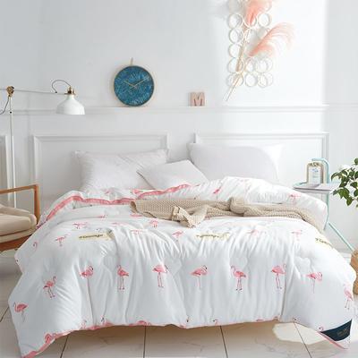 2018新款植物羊绒时尚立体被系列 150*200cm(4.1斤) 火烈鸟