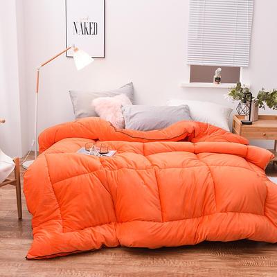 2019新款水晶绒(春秋)冬被 150x200cm4斤 橙色