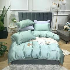 2019新款60天丝四件套-甜梦 1.5m(5英尺)床 薄荷绿