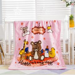2018新款-儿童云毯 1.0m(3.3英尺)床 玩具总动员-粉
