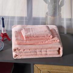 2018新款-乳胶浴巾 粉色70*140