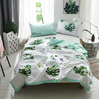 2018新款13372全棉棉花夏被-森林系列 150x200cm 北欧宽叶