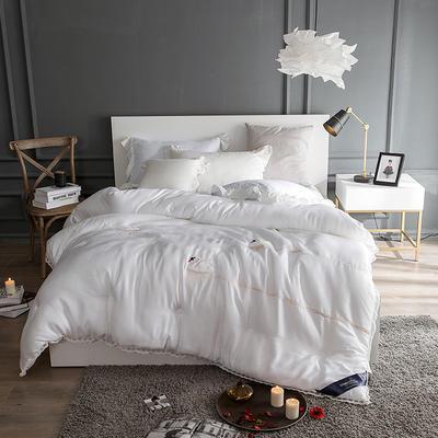孚缦被业-2018新款莫代尔刺绣工艺冬被系列- 200X230cm 天鹅湖白色