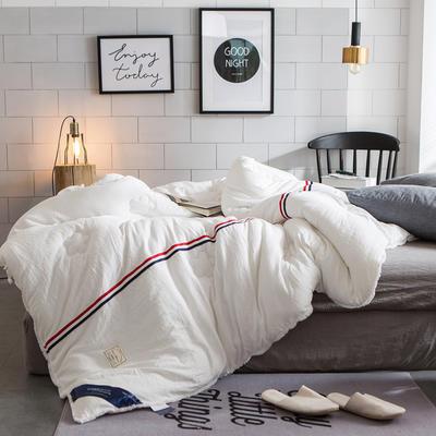 孚缦被业-新款水洗棉工艺纤维冬被-法式浪漫 150x200cm 白色