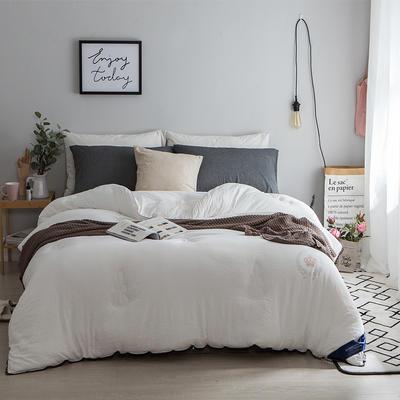 孚缦被业-水洗棉纤维冬被-皇冠 200X230cm 白色