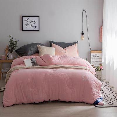 孚缦被业-水洗棉纤维冬被-皇冠 200X230cm 粉色