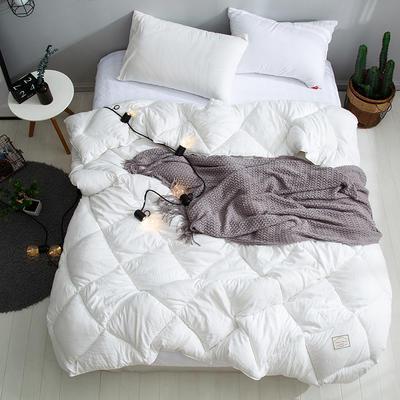 孚缦被业 新款北欧宜家风水洗棉春秋被冬被被芯被子-托斯卡纳 150X200cm(5斤) 白色