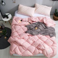 孚缦被业2018新款水洗棉春秋被冬被被芯被子-托斯卡纳 220x240cm(6斤) 粉色