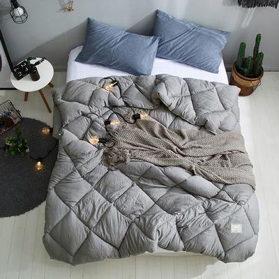 孚缦被业 新款北欧宜家风水洗棉春秋被冬被被芯被子-托斯卡纳 150X200cm(5斤) 灰色