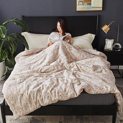 孚缦被业-2019全棉40立暖绒冬被-轻奢系列 200X230cm7斤 佩利兹