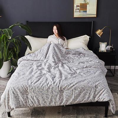 孚缦被业-2018新款全棉40立暖绒冬被-轻奢系列 200X230cm7斤 小叶风情