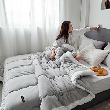孚缦被业-2018新款日式全棉水洗棉冬被-奈良