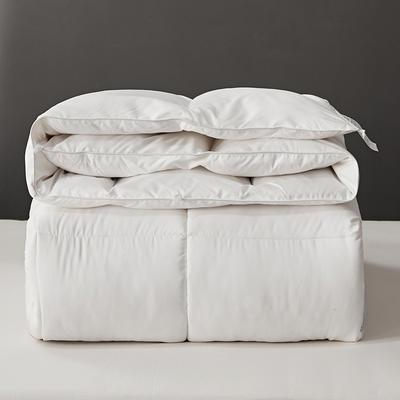 2020新款仿鹅绒被大豆被羽丝绒冬被春秋被子母被子被芯 150x200cm3.5斤 贵族白