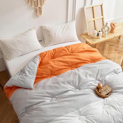 2020新款磨毛彩虹被春秋被冬被被子被芯-独家专版花型 150x200cm3斤 橙色