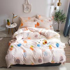 2019新款芦荟棉床单式四件套 1.2米床三件套 菠萝蜜