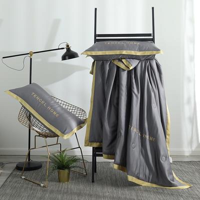 2019新款60S兰精天丝夏被四件组 标准号 夏被+枕套+床单 烟灰