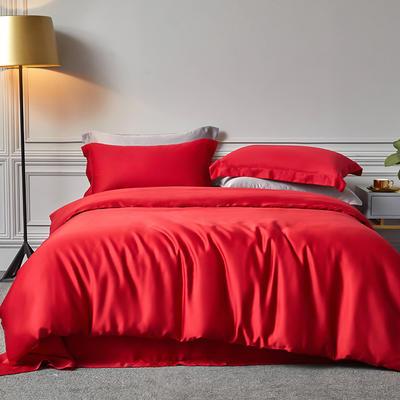 2020新款60S素色天丝套件 M 大红