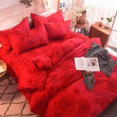 2018纯棉生态磨毛单被套款 160x210cm 玫瑰花都