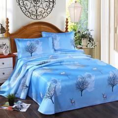 2019新款床单款凉席 160*230(二件套) 北欧生活-蓝