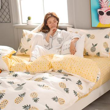 2018新款总北欧小清新系列全棉13372 四件套 1.2m(床) 大菠萝