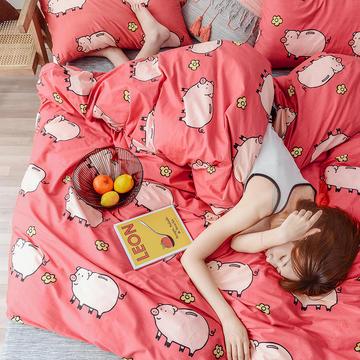 布蕾肯家纺2019新品全棉INS四件套网红套件 床单款 床笠款