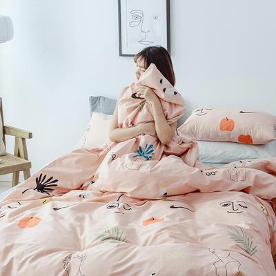 布蕾肯家纺2019新品全棉INS四件套网红套件 床单款 床笠款 1.2m(4英尺)床单款 夏朵
