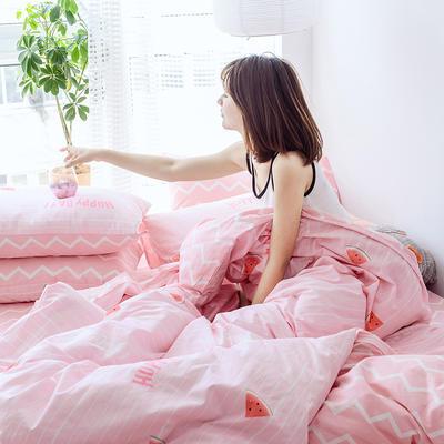 布蕾肯家纺2019新品全棉INS四件套网红套件 床单款 床笠款 1.2m(4英尺)床单款 西瓜