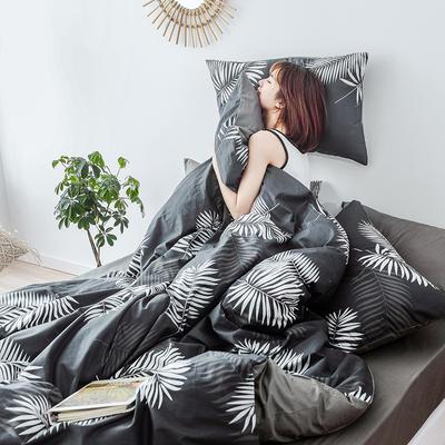 布蕾肯家纺2019新品全棉INS四件套网红套件 床单款 床笠款 1.2m(4英尺)床单款 叶墨