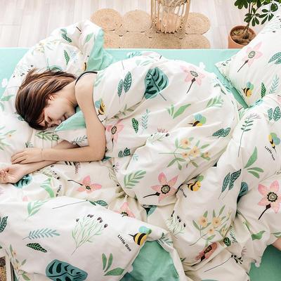 布蕾肯家纺2019新品全棉INS四件套网红套件 床单款 床笠款 1.2m(4英尺)床单款 初心