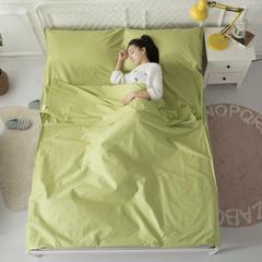 2018新款全棉纯色隔脏睡袋旅行睡袋 绿色160-220cm