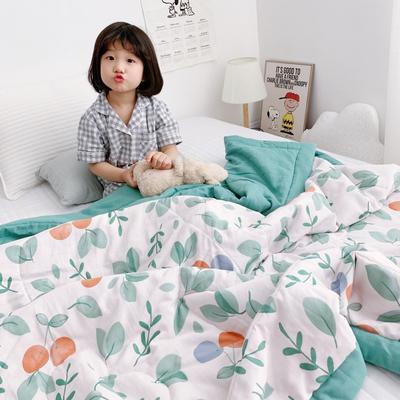 2019新款-日式纱布儿童棉花夏被 120*150cm 日式纱布棉花夏被-晴语