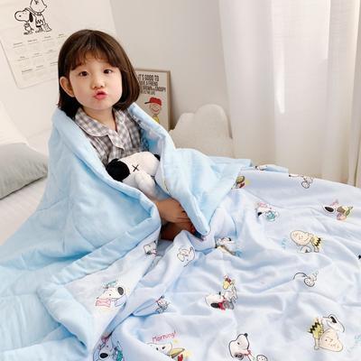 2019新款-日式纱布儿童棉花夏被 120*150cm 日式纱布棉花夏被-史努比