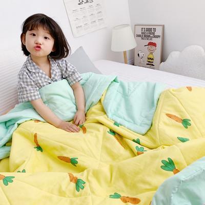 2019新款-日式纱布儿童棉花夏被 120*150cm 日式纱布棉花夏被-小萝卜