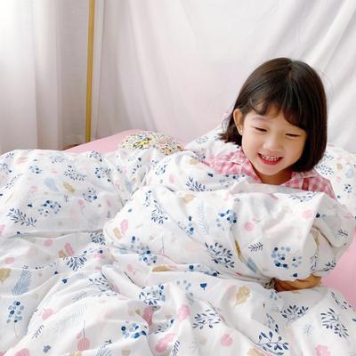 2019新款-治愈系全棉嵌绳四件套实拍图 三件套1.2m(4英尺)床 粉色回忆