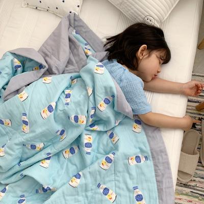 2019新款-日式纱布儿童棉花夏被 120*150cm 明治酸奶