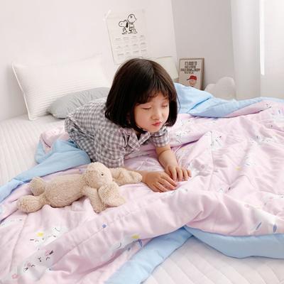 2019新款-日式纱布儿童棉花夏被 120*150cm 兔宝贝