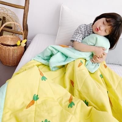 2019新款-日式纱布儿童棉花夏被 120*150cm 小萝卜