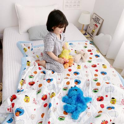 2019新款-日式纱布儿童棉花夏被 120*150cm 芝麻街
