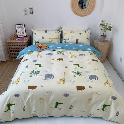 2019新款-13070小清新四件套实拍图 床单款四件套1.8m(6英尺)床 小欢喜