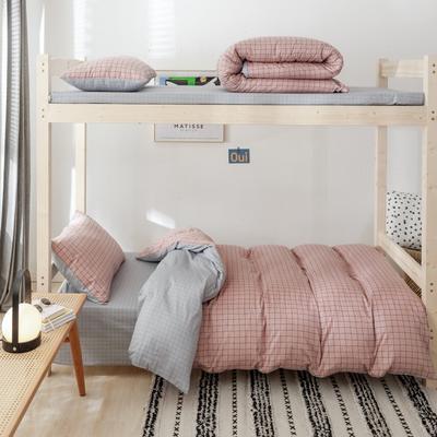 2019新款-全棉ins小清新学生三件套 床单款三件套1.2m(4英尺)床 格调粉
