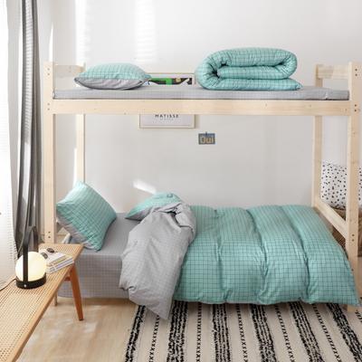 2019新款-全棉ins小清新学生三件套 床单款三件套1.2m(4英尺)床 格调蓝