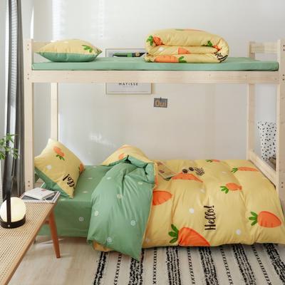 2019新款-全棉ins小清新学生三件套 床单款三件套1.2m(4英尺)床 胖萝卜