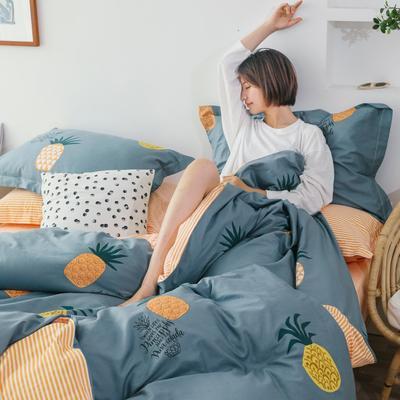 2019新款-13372全棉精梳YB亚博在线娱乐系列 床单款三件套1.2m(4英尺)床 菠萝