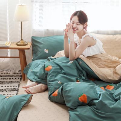 2019新款-13372全棉精梳YB亚博在线娱乐系列 床单款三件套1.2m(4英尺)床 草莓园